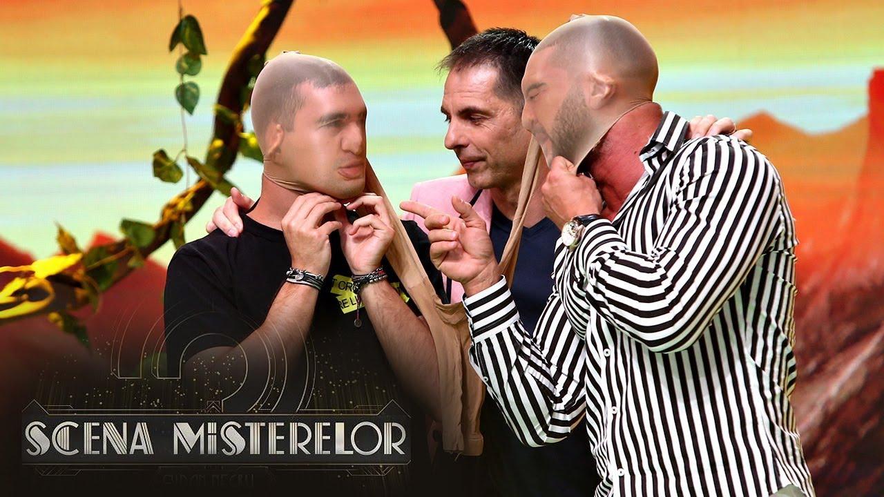 Dorian Popa și Vlad Gherman s-au duelat pentru indiciu cu un ciorap de damă pe cap!