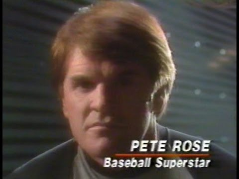 PETE ROSE 1987 Tegrin Shampoo commercial