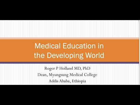 Webinar: Medical Education in the Developing World