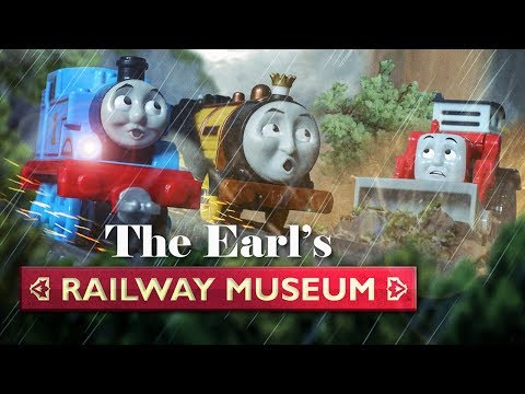 The Race and the Rock Slide! | The Earl's Railway Museum #1 | Thomas & Friends