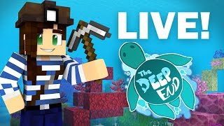 LIVE - Building My Coral Base   The Deep End SMP