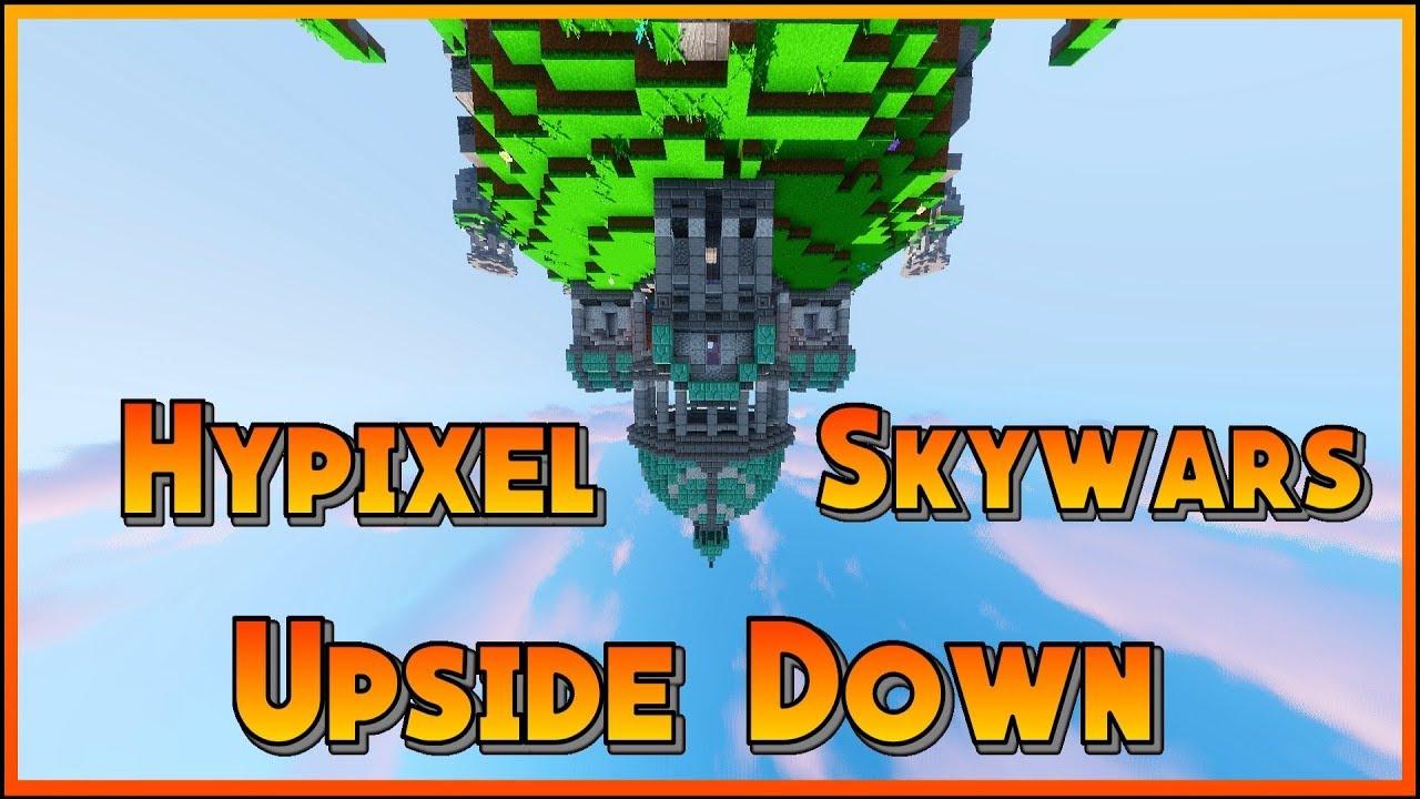 Hypixel Skywars UPSIDE DOWN CHALLENGE!!