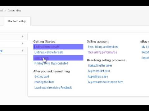 Contact EBay Customer Service Via Web Chat