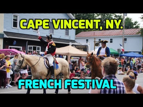 Sailing To Cape Vincent NY To Take In The French Festival And Fireworks.  Ep145.