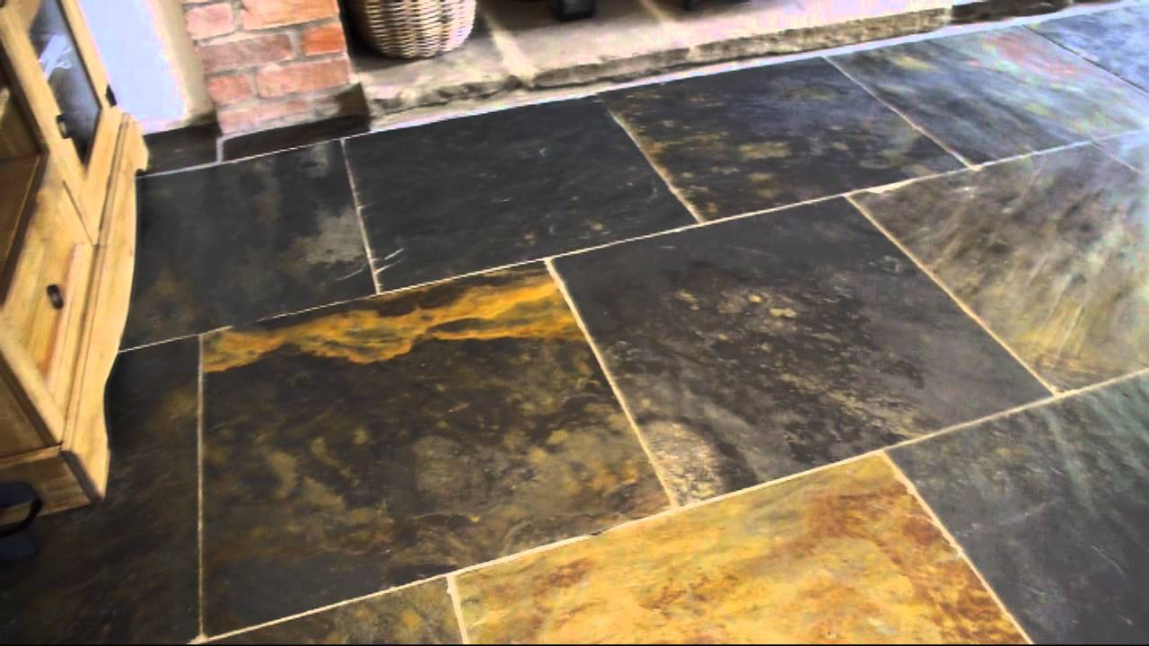 Nustone Rustic Copper Riven Slate Tiles 600x600 Natural Stone Flooring 60x60 Youtube