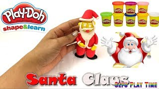 SANTA CLAUS WITH PLAY-DOH - How to make it. DIY