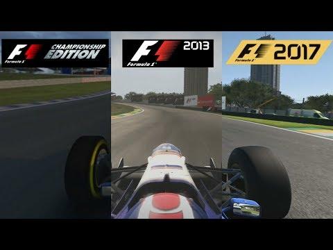 F1 2017 Vs F1 2013 Vs F1 Championship Edition - Williams FW18 Hotlap Comparison