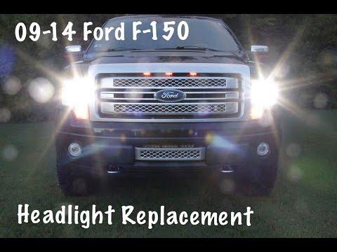 09 14 F 150 Headlight Replacement