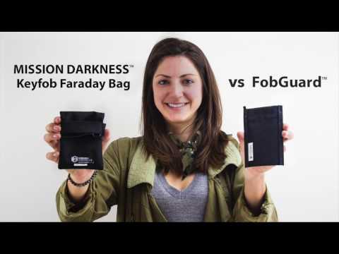 Product Comparison // Key Fob Faraday Bags: Mission Darkness Keyfob Faraday Bag vs Fobguard
