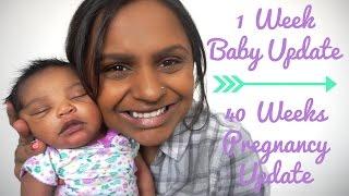 1 week baby update   40 weeks pregnancy update