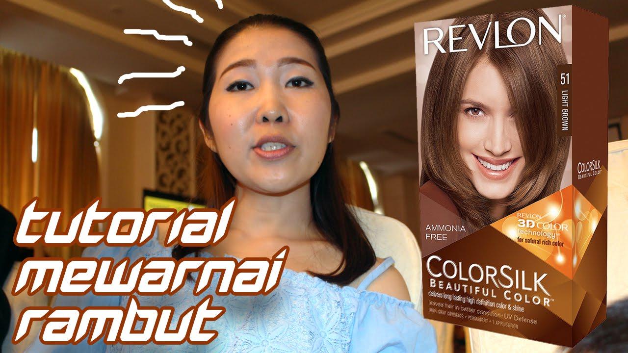 Tutorial Cara Mewarnai Rambut Menggunakan Revlon Colorsilk Youtube Semir Top