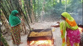 Soya Chunk Cooking By 15 Women In Bamboo Jungle - Tasty & Healthy Food For Whole Village Peoples