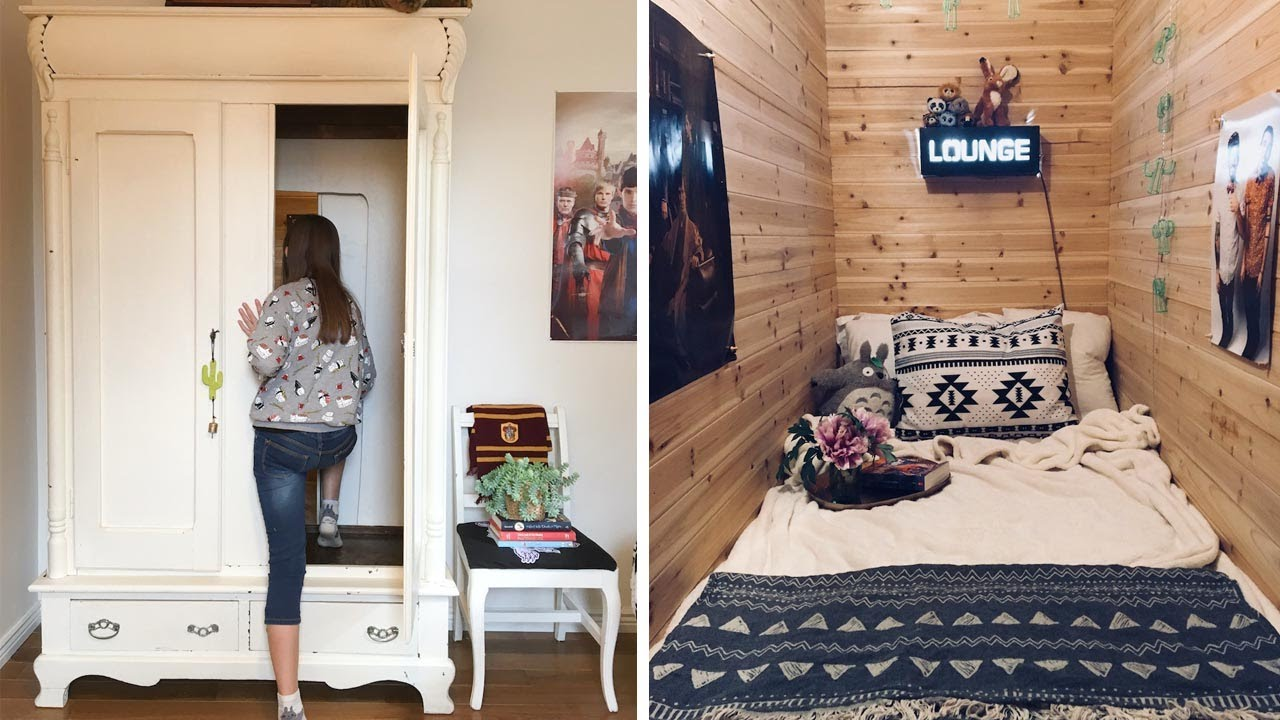 Mum Creates Secret Bedroom In Wardrobe Youtube