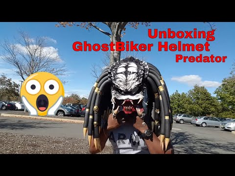 Predator helmet unboxing new version (open mouth teeth) #predatorhelmet
