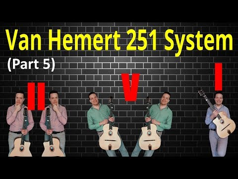 """How to sound like a jazz guitar pro on 251's in no time! ('Van Hemert 251 System"""" part 4)"""