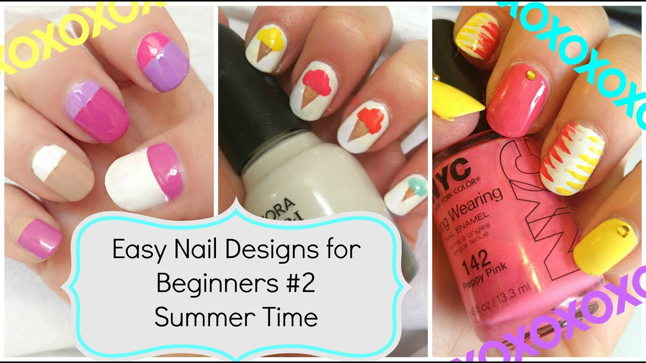 DIY ✹ Summer Nail Art!!! Three Easy Designs! ✹ Nail Art Hacks ...