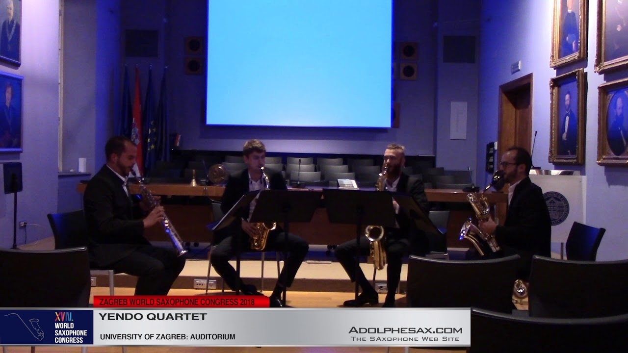 String Quartet in G minor Op27 by Edvard Grieg -  Yendo Quartet   #adolphesax