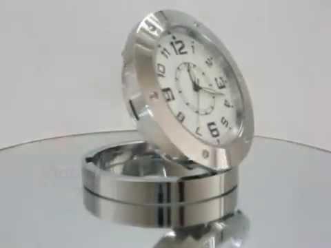 aa2099b510c Relógio Espião De Mesa Com Sensor De Movimento Filma E Fotos - YouTube