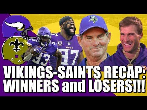 Vikings-Saints Recap: Winners & Losers