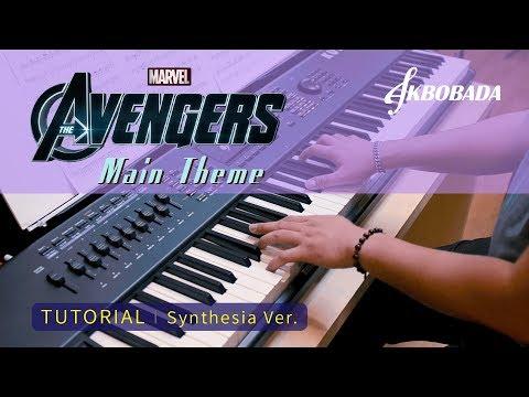 어벤져스 메인테마 (The Avengers Main Theme), 피아노 튜토리얼 악보