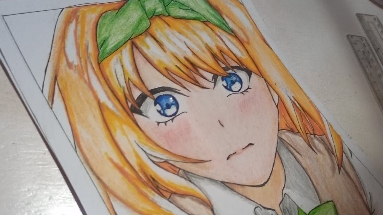 Drawings Anime Girl Speed Drawing - YouTube