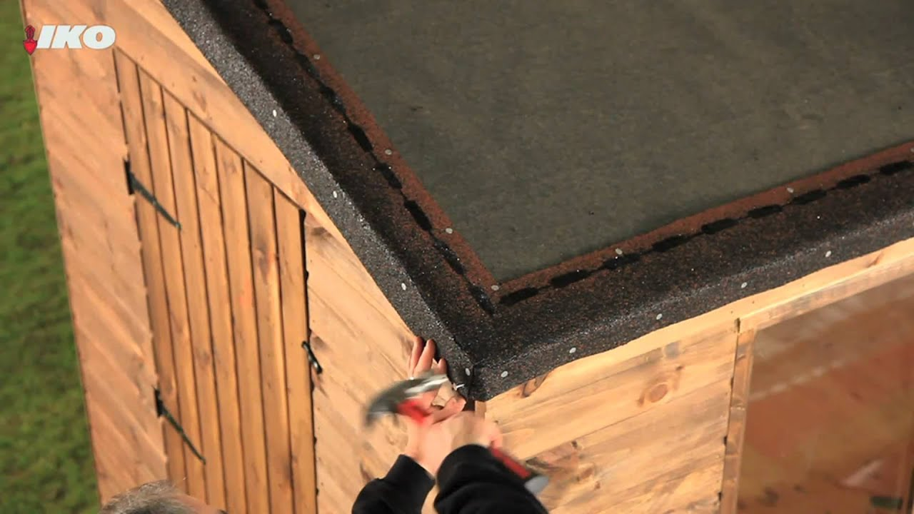 Fix Roofing Shingles To Your Shed