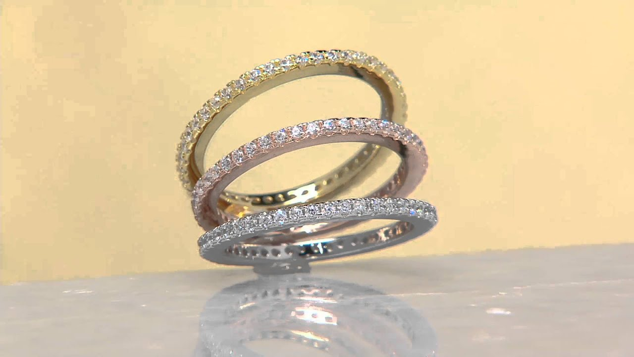 jewelry rings triangle pave tri lyst tone gallery pav gray ring michael product normal kors embellished