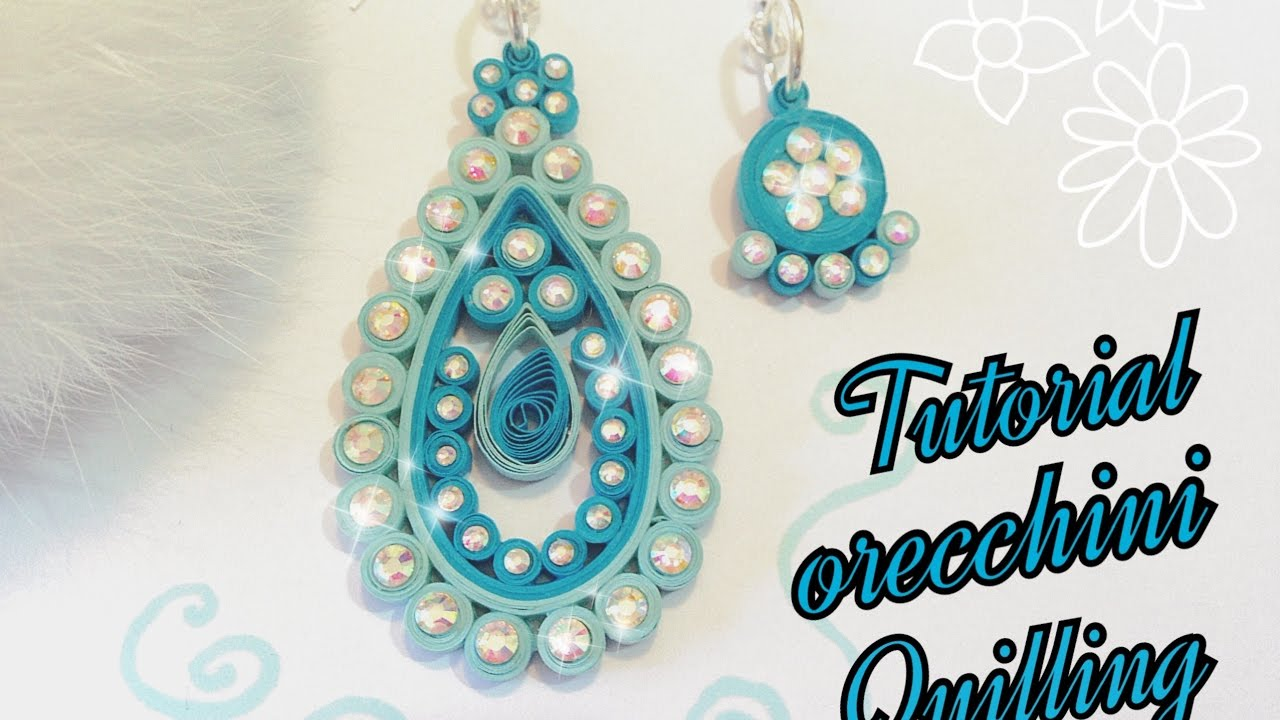 Top Tutorial orecchini quilling | Diy quilling | Tutorial earrings  YO23