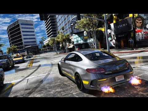 ► GTA 6 Graphics - ✪ M.V.G.A. -Gameplay! Mercedes C63s AMG Coupe! 2017!Realistic Graphics MOD 60FPS