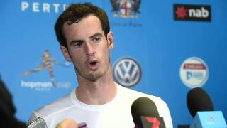 Andy Murray press conference - Hopman Cup 2015