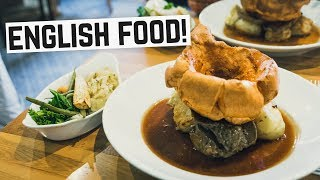 Video English Food - Sunday Roast, Bangers & Mash and Bubble & Squeak! (Americans try British Food) download MP3, 3GP, MP4, WEBM, AVI, FLV Agustus 2017
