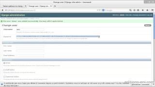Django - Création d'applications web en Python - Interface d'administration