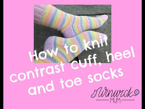 Contrast Cuff,  Heel And Toe Socks - Joining In New Colours