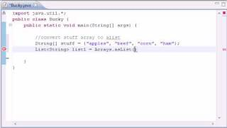 Intermediate Java Tutorial - 12 - addAll
