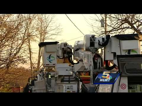 Worker shocked while trying to repair power lines