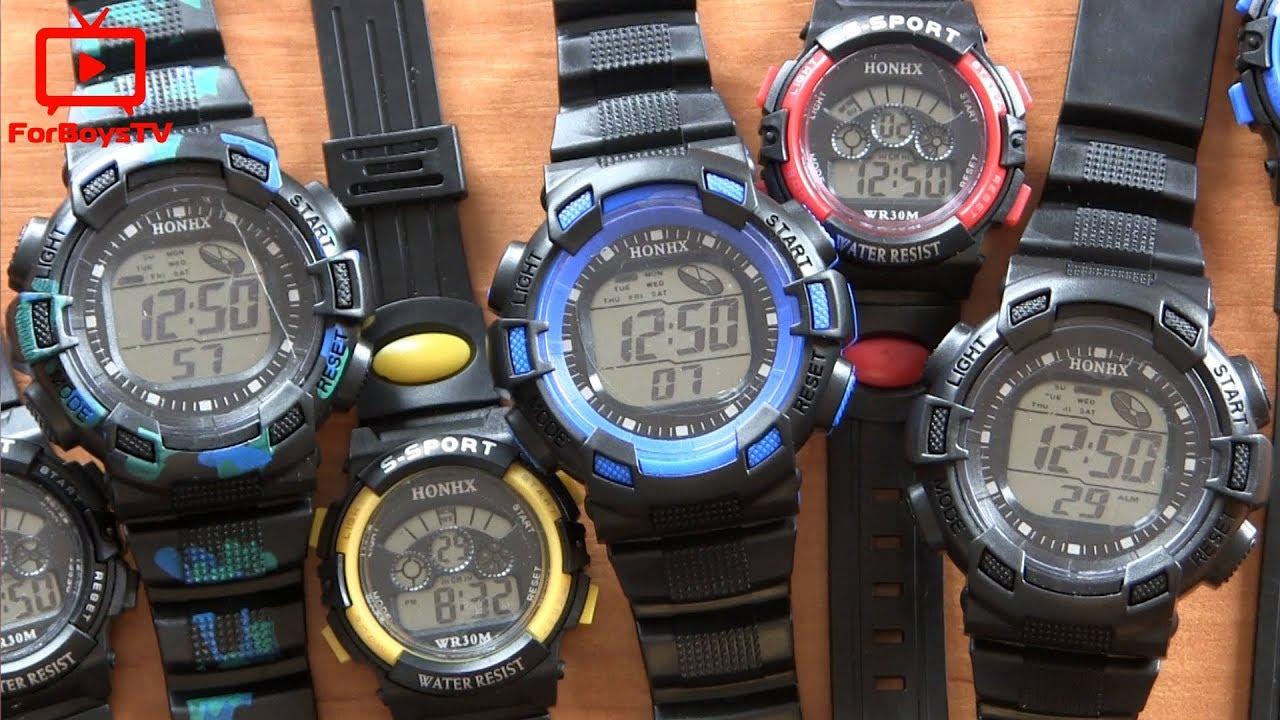 7e8044281de0 Настройка часов S-SPORT HONHX WR30M - обзор детских спортивных часов с  Алиэкспресс