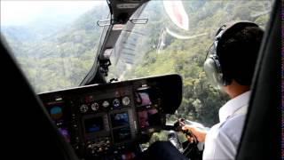 Eurocopter EC 145 landing in Longkogungan, Sabah