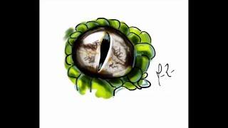 Ojo de culebra | dibujo rápido | speed drawing using GIMP
