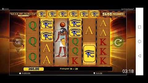 Eye Of Horus auf Bet365 5 Franken hit