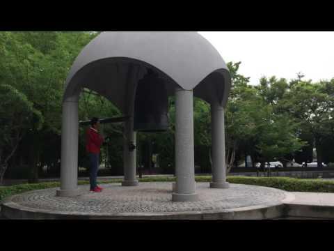 Bill Santiago does #Japan  Ringing Peace Bell #Hiroshima  #travel #2016