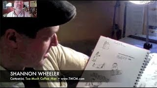 WTF? Shannon Wheeler draws Too Much Coffee Man! INTERVIEW