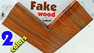Wood grains painting Art | Make wood grains Easy