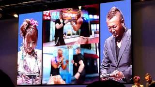 東京ゲームショー 2010 セガブースにてタレントのゲーム紹介動画.