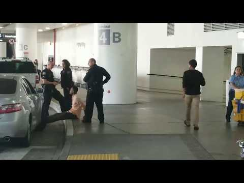 lax airport police arrested a man with paper plates and a warrant at LAX