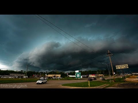 Storm Chaser Gets Hit By Gustnado on MONSTER Cold Front in Gilmer Texas
