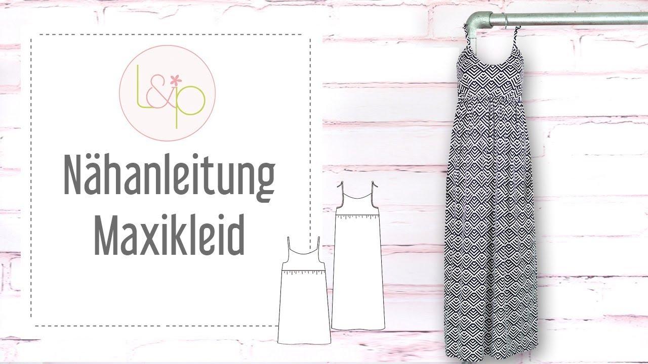 damen-schnittmuster langes kleid maxi, lillesol women no.8