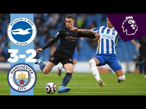 HIGHLIGHTS | Brighton 3-2 Man City | 10 man City lose 5 goal thriller