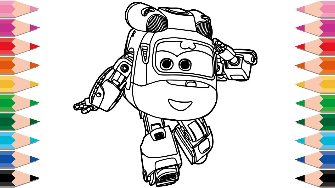 How to Draw Super Wings Dizzy Robot Helicopter for Kids ...