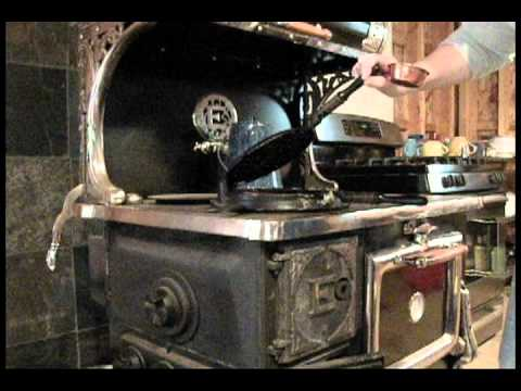 Waffles on the Wood Cook Stove - Waffles On The Wood Cook Stove - YouTube