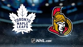 Maple Leafs score three in the 3rd to rally past Sens